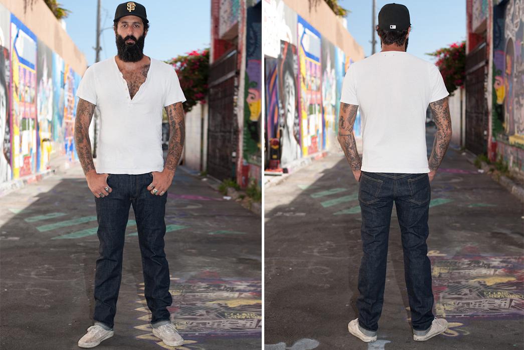 sugar-cane-2014-raw-denim-jeans-model-front-back