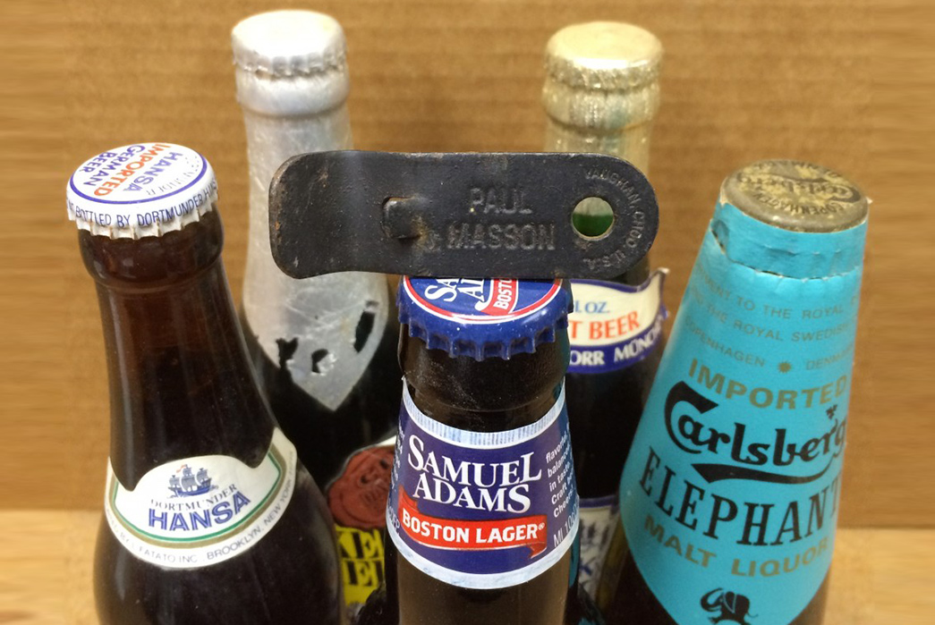 uncapping-the-history-of-bottle-openers Vintage Opener and bottles. Image via delishably.