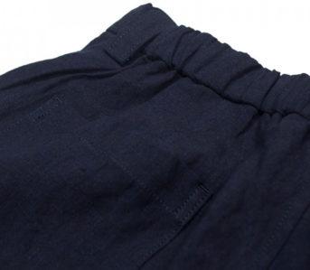 Blue-Blue-Japan-Indigo-Dyed-Linen-Chambray-Center-Seam-Easy-Pants-back-top-left-pocket