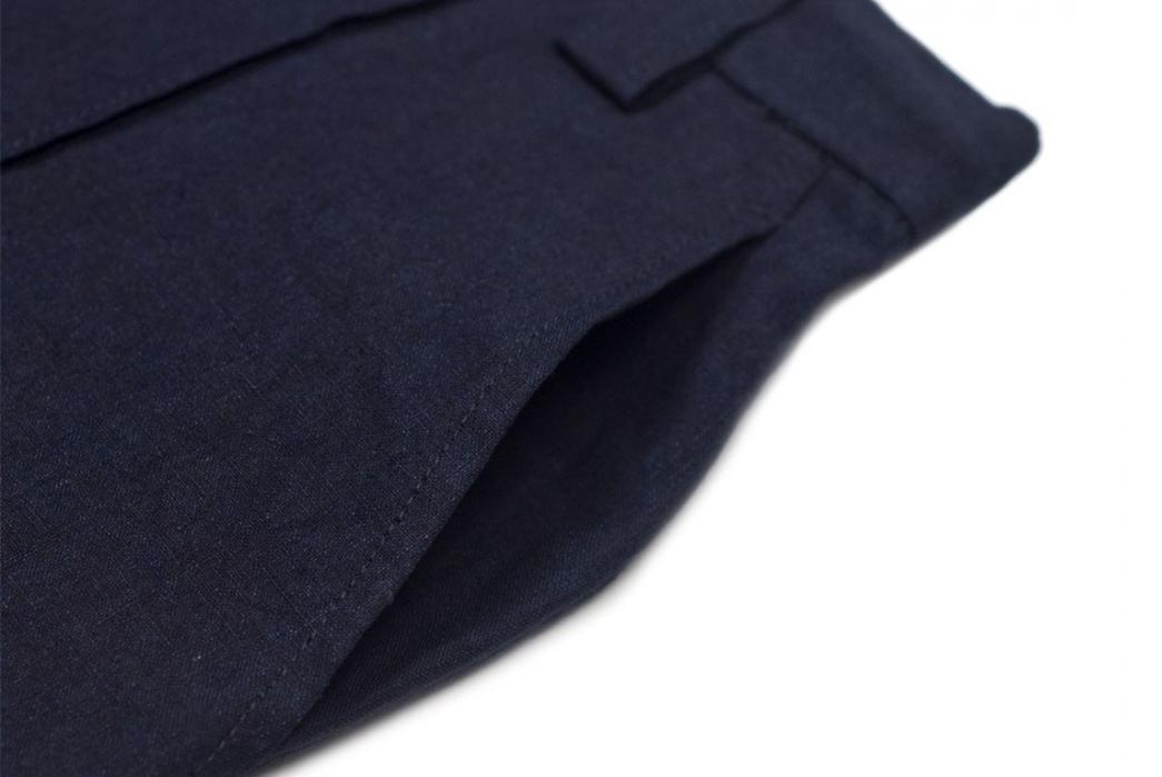 Blue-Blue-Japan-Indigo-Dyed-Linen-Chambray-Center-Seam-Easy-Pants-front-left-pocket