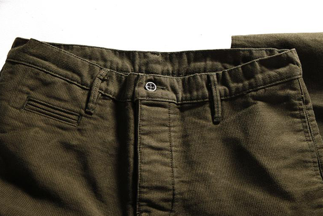 Left-Field-N1-Deck-Cord-Chinos-olive-front-top