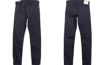 Momotaro-0405-B-Double-Black-Jeans-front-back