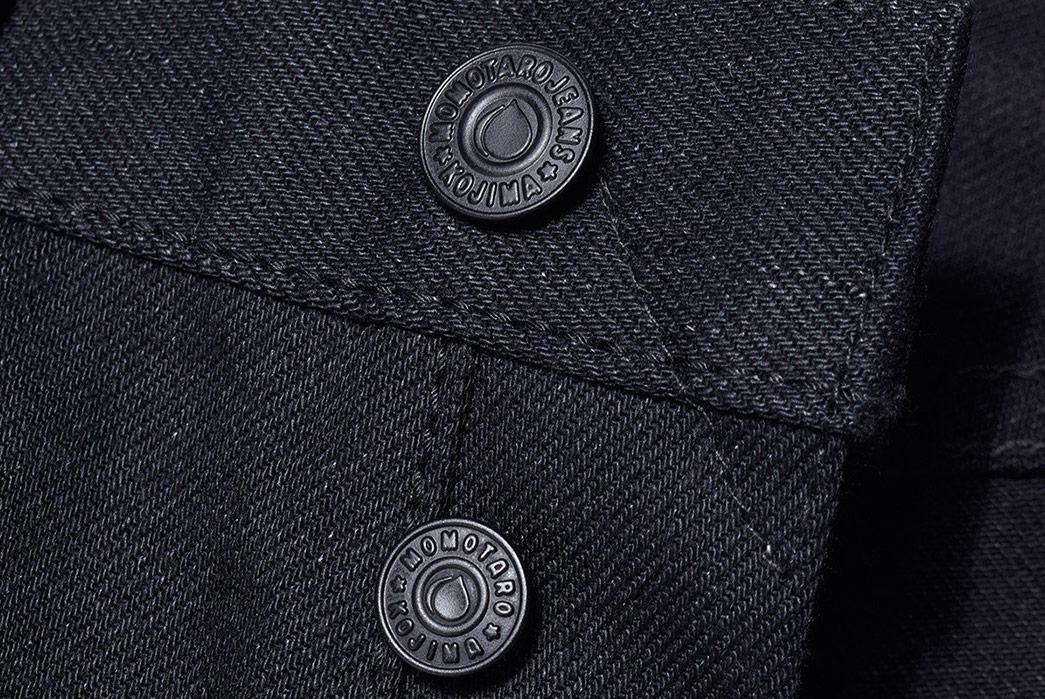 Momotaro-0405-B-Double-Black-Jeans-front-bottons