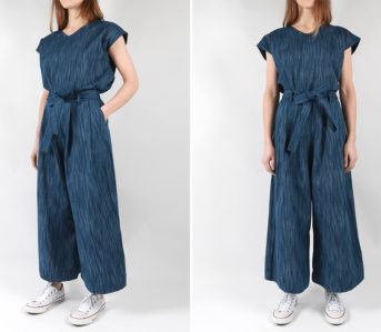 Naked-&-Famous-Tie-Dye-Rain-Weave-Wide-Pants-and-Boxy-Top-front-side-model