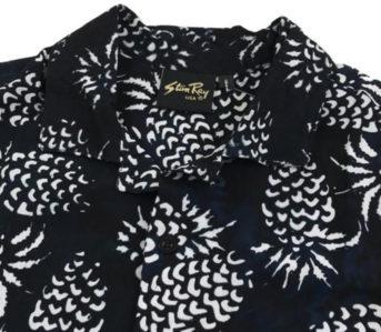 stan-ray-black-pina-batik-kelapa-short-sleeve-shirt-front-collar