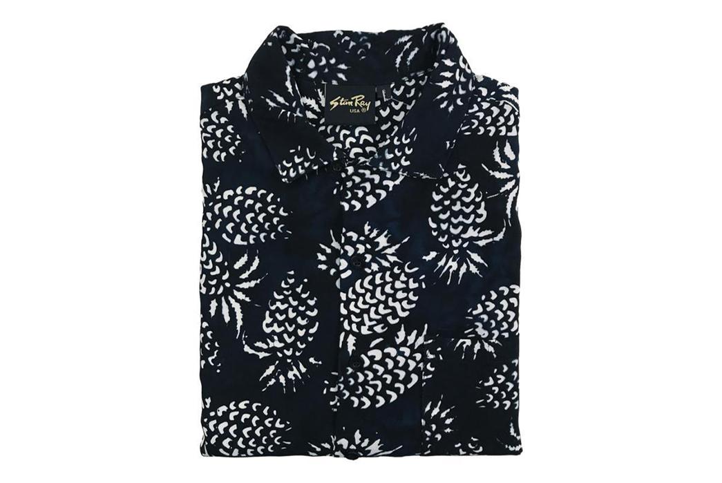 stan-ray-black-pina-batik-kelapa-short-sleeve-shirt-front-folded