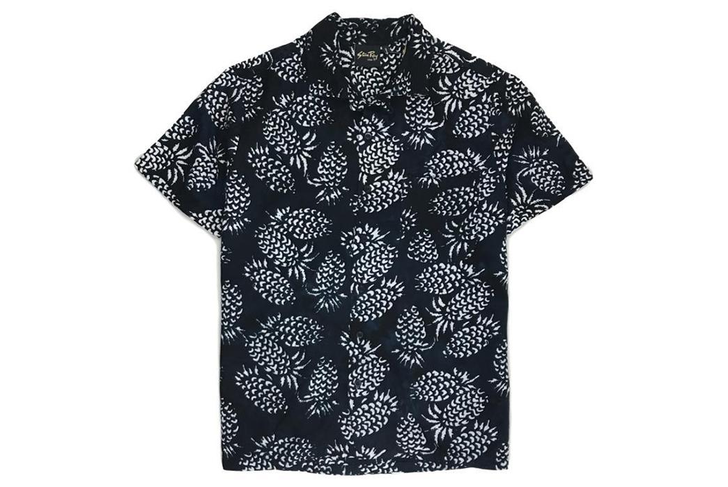 stan-ray-black-pina-batik-kelapa-short-sleeve-shirt-front