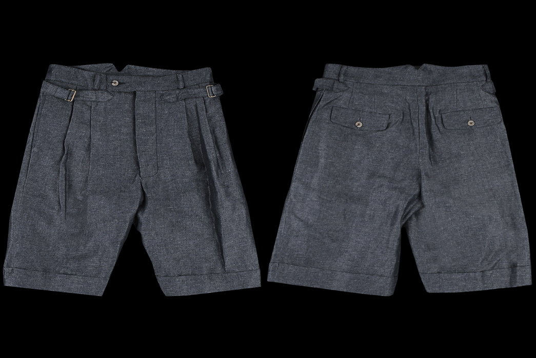 Chino-Style-Shorts---Five-Plus-One-Plus-One---Nicholas-Daley-Front-Cinch-Short-in-Dark-Navy