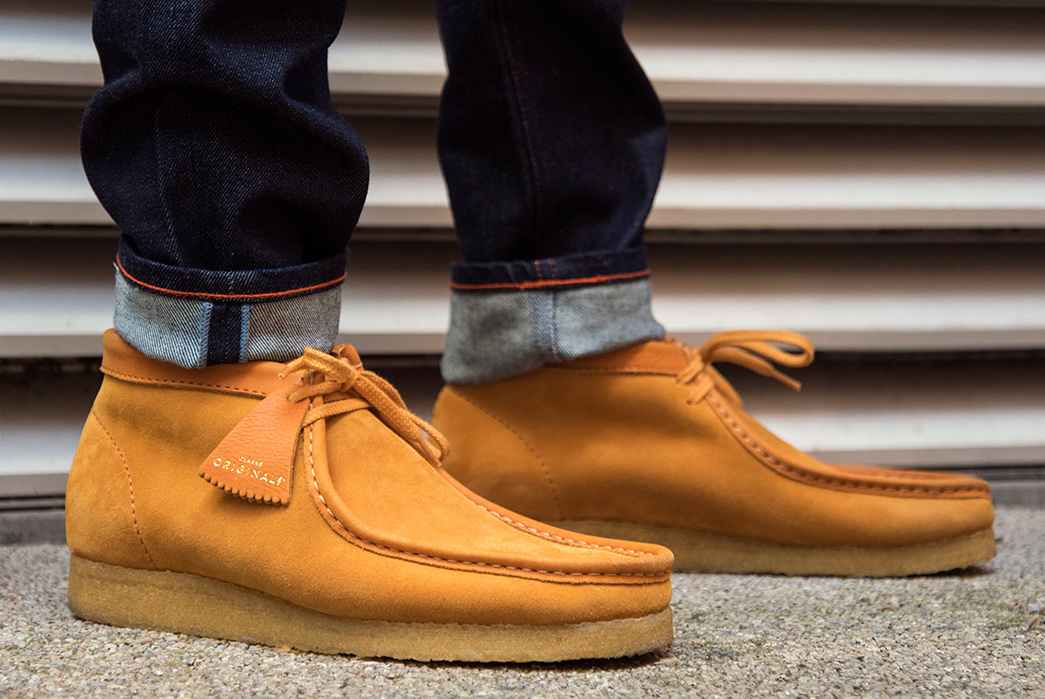 Clarks'-Latest-Italian-Made-Collection-is-Limited-to-Just-356-Pairs-model-pair-orange