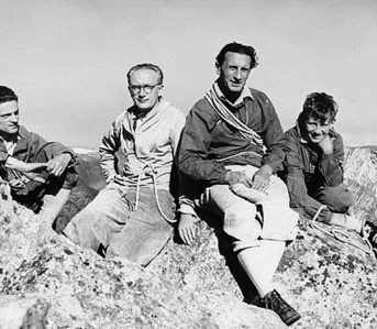 Evolution-of-Hiking-Boots-Prolific-hiker-and-founder-of-Vibram,-Vitale-Bramani-(second-from-right).-Image-via-Heddels.