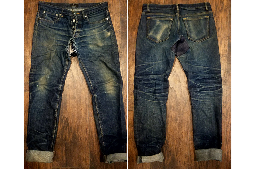 Fade-of-the-Day---A.P.C.-Petit-Standard-(3-Years,-1-Wash,-Soak)-front-back-2