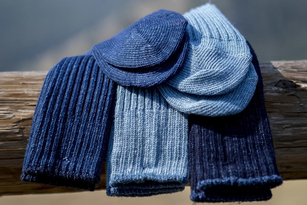 Indigo-Dyed-Socks---Five-Plus-One-3)-Gustin-Japan-Indigo-Rib-Sock-(3-pack)