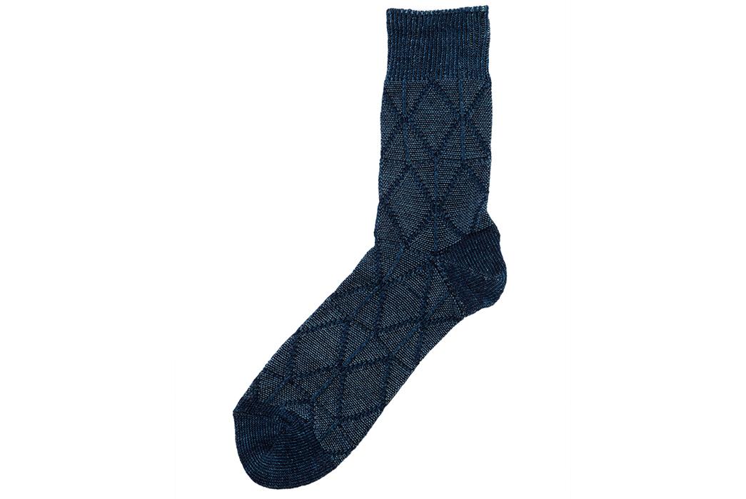 Indigo-Dyed-Socks---Five-Plus-One-5)-Anonymous-Ism-Float-Three-Quarter-Socks