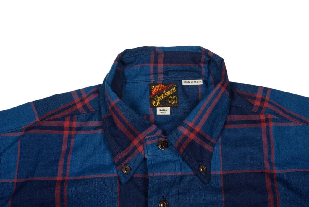 Mister-Freedom-Indigo-Madras-Berkeley-Shirt-front-top-collar