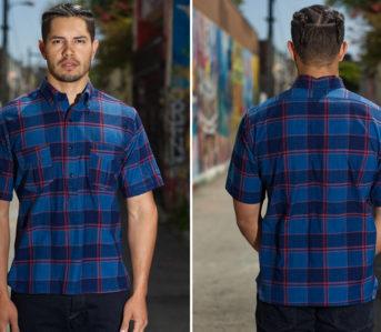 Mister-Freedom-Indigo-Madras-Berkeley-Shirt-model-front-back