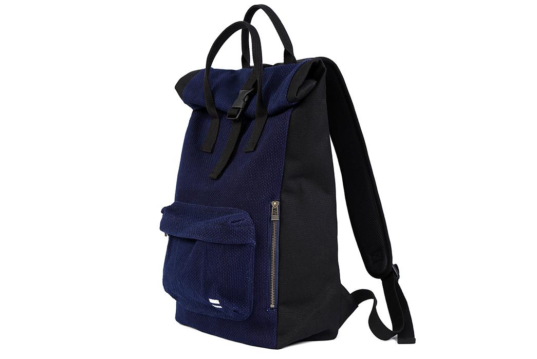 Momotaro-Indigo-Sashiko-Two-Way-Backpack-front-side