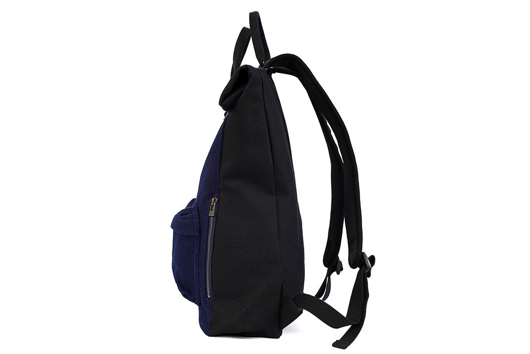 Momotaro-Indigo-Sashiko-Two-Way-Backpack-side