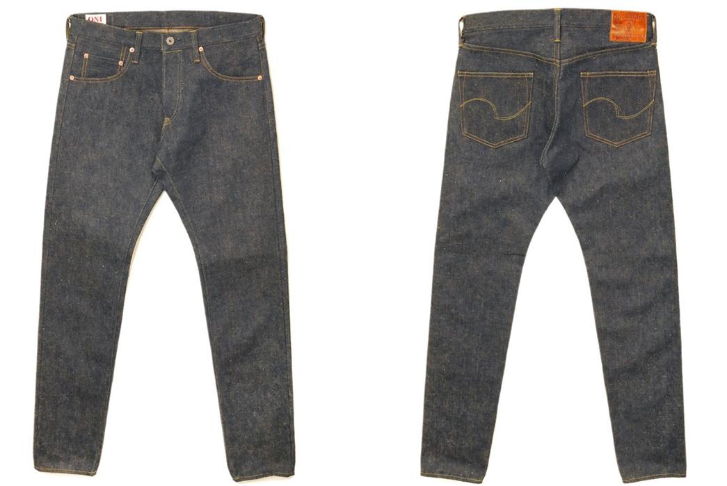 Oni-622ZR-Raw-Denim-Jeans-front-back