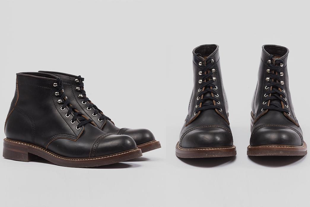 Perforated-Cap-Toe-Boots---Five-Plus-One-2)-John-Lofgren-Combat-Boots
