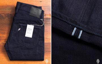 Pure-Blue-Japan's-AI-003-Double-Natural-Indigo-17.5oz-Unsanforized-Selvedge-Denim-folded-and-leg-selvedge