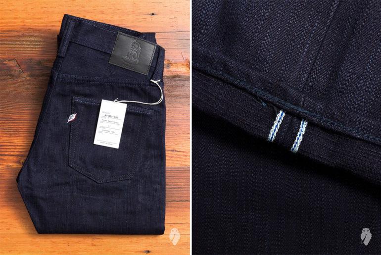 Pure-Blue-Japan's-AI-003-Double-Natural-Indigo-17.5oz-Unsanforized-Selvedge-Denim-folded-and-leg-selvedge</a>