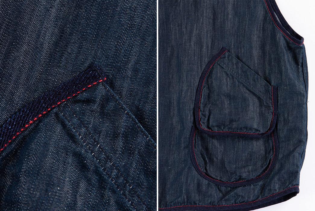 Setto-Indigo-Hunting-Vest-front-pocket-detailed