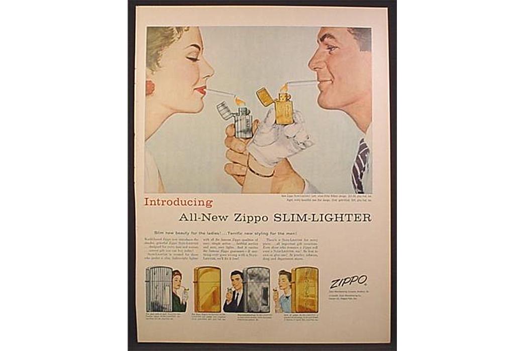The-Lasting-Draw-of-Zippo-Lighters-Zippo-Slim-Ad.-Image-via-Magazines-and-Books.