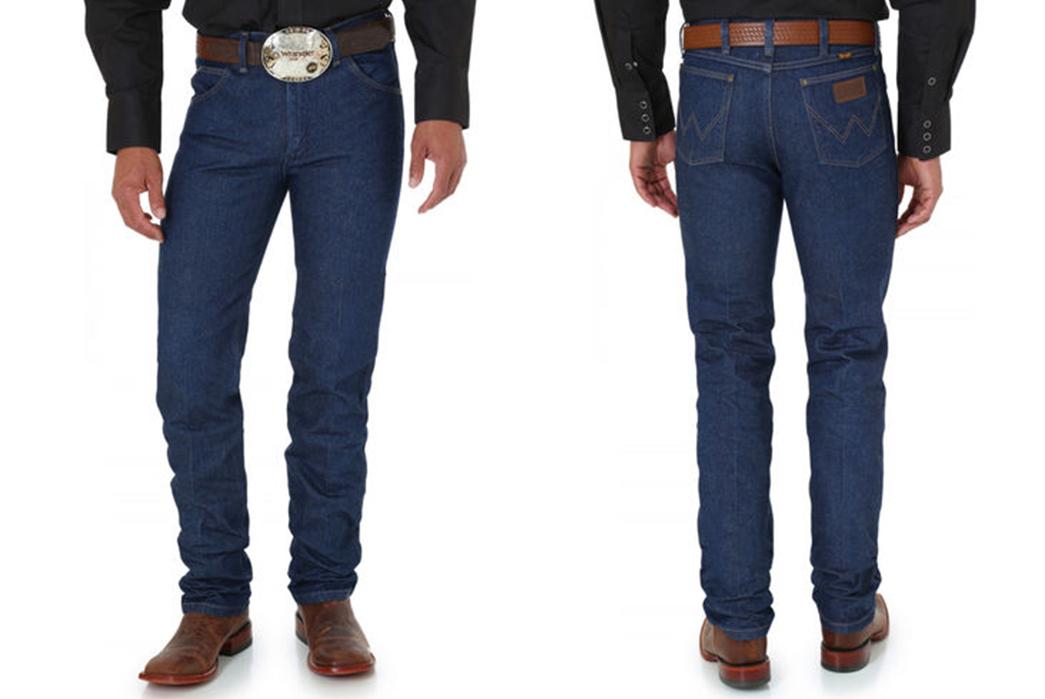 Wrangler-36MWZ-Rigid-Raw-Denim-Jeans-model-front-back