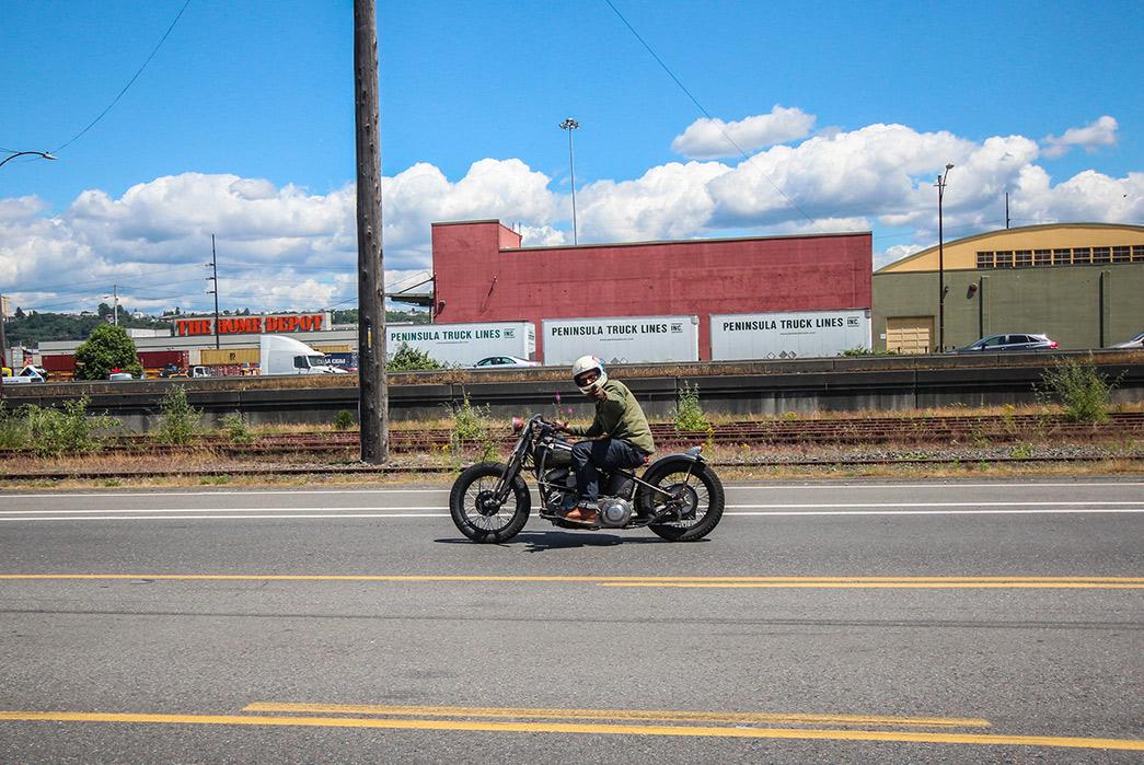 Black-Bear-WWII-Shirt-Jacket-on-bike-2