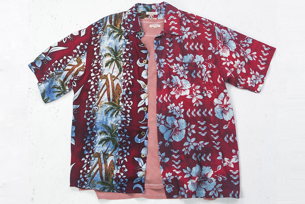 Dr.-Collectors-Split-Aloha-Shirts-red-rose-flowers-and-palms