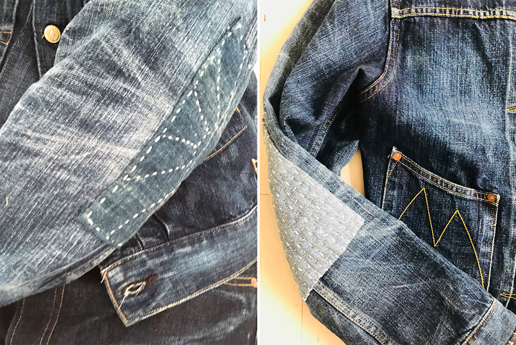 Fade-Friday---Mister-Freedom-Ranch-Blouse-Lot-44-(~8-Years,-4-Washes,-1-Soak)-sleeves