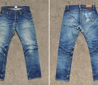 Fade-of-the-Day---Aye-Denim-Geometric-Series-V1-16-oz.-(2.5-Years,-Unknown-Washes)-front-back