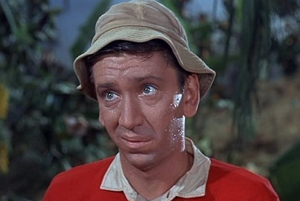 History-of-Bucket-Hats-John-Denver-(not-the-musician)-on-Gilligan's-Island.-Image-via-CBS.