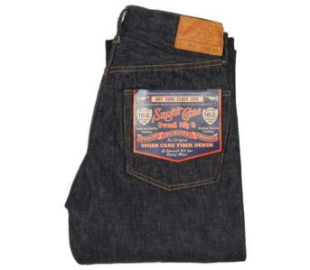 Sugar-Cane-Lot-304-Okinawa-Jean-Heavyweight-16.25oz.-Denim-folded