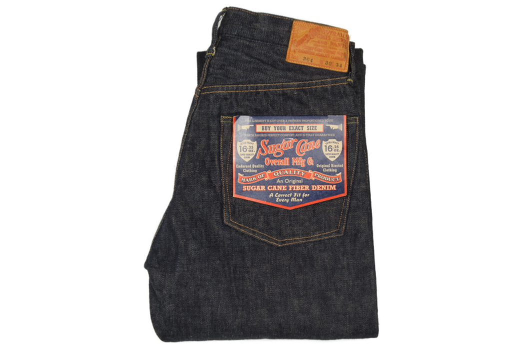 Sugar-Cane-Lot-304-Okinawa-Jean-Heavyweight-16.25oz.-Denim-folded