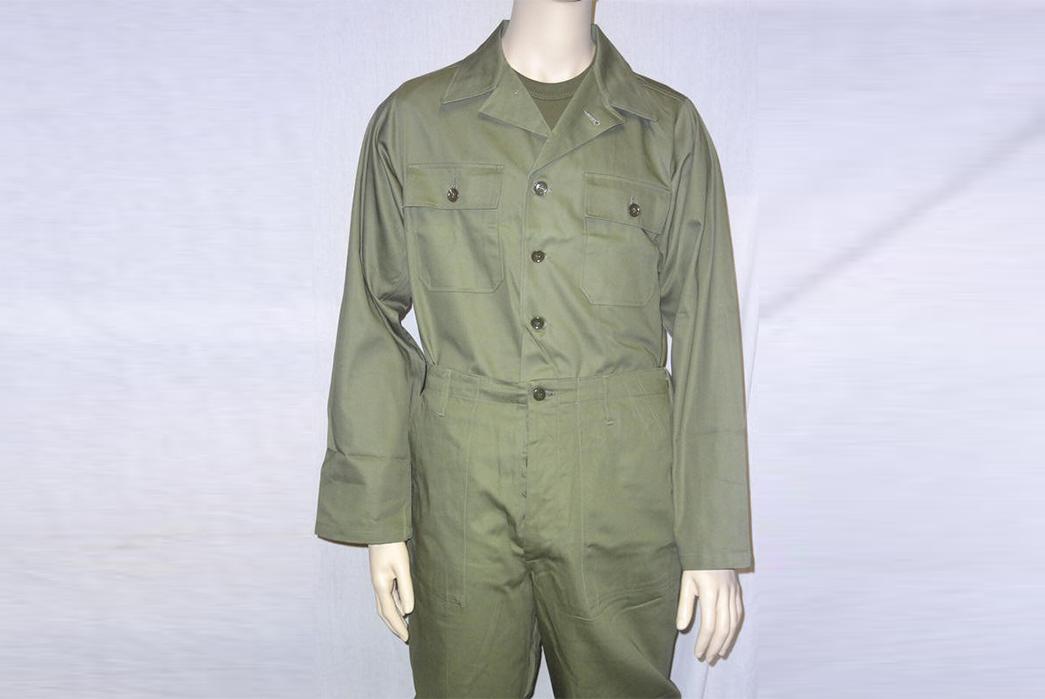 The-History-of-the-OG-107-Jungle-Jacket-The-History-of-the-OG-107-Jungle-Jacket-The-OG-107,-as-worn-by-soldiers-on-either-side-of-famous-Napalm-enthusiast,-General-Westmoreland.-Via-Kubel-1943 OG-107 uniform Type I. Image via Moore Militaria.