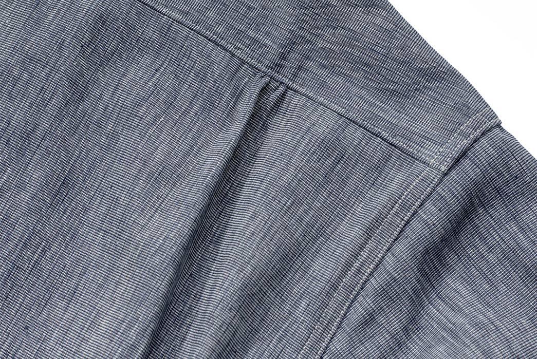 Warehouse-Open-Collar-Shirt-back-right-shoulder