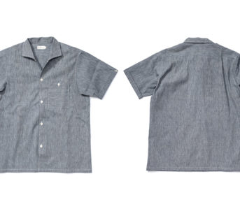 Warehouse-Open-Collar-Shirt-front-back
