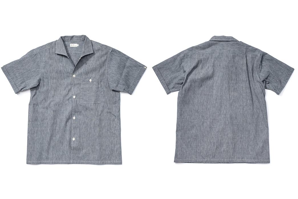Warehouse-Open-Collar-Shirt-front-back