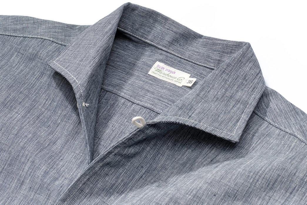 Warehouse-Open-Collar-Shirt-front-collar-angle