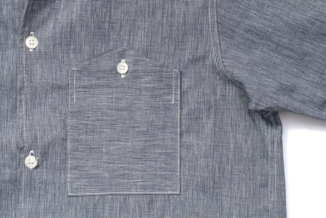 Warehouse-Open-Collar-Shirt-front-pocket