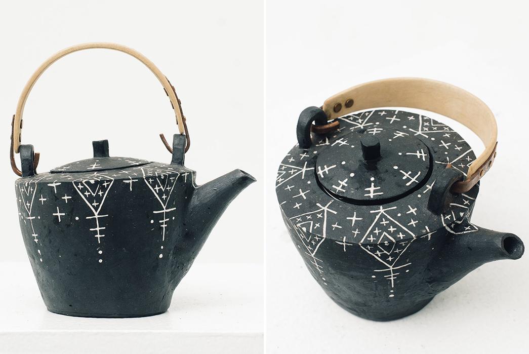 Centerpiece-Teapots---Five-Plus-One-Plus-One---Ayame-Bullock-Black-Mudcloth-Teapot
