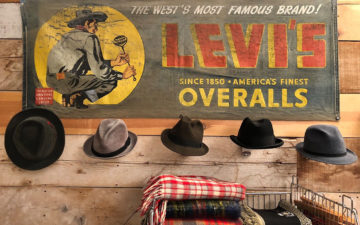 Denim-Banners---Art-and-Advertising-for-a-Simpler-Time-Vintage-early-40s-Levi's-banner.-Image-via-Ebay.