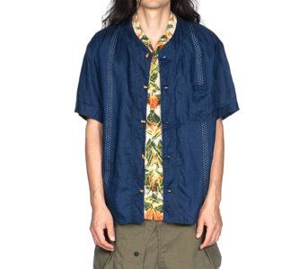 Kapital-IDG-Linen-Wabash-Dye-Print-Baseball-Shirt-01
