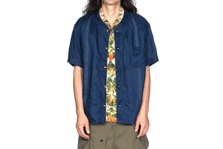 Kapital-IDG-Linen-Wabash-Dye-Print-Baseball-Shirt-01</a>