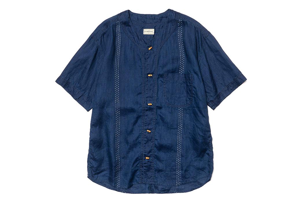 Kapital-IDG-Linen-Wabash-Dye-Print-Baseball-Shirt-02