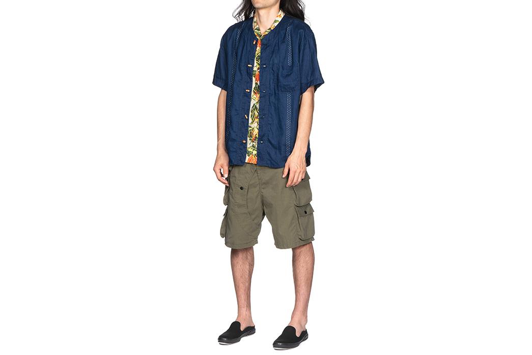 Kapital-IDG-Linen-Wabash-Dye-Print-Baseball-Shirt-04