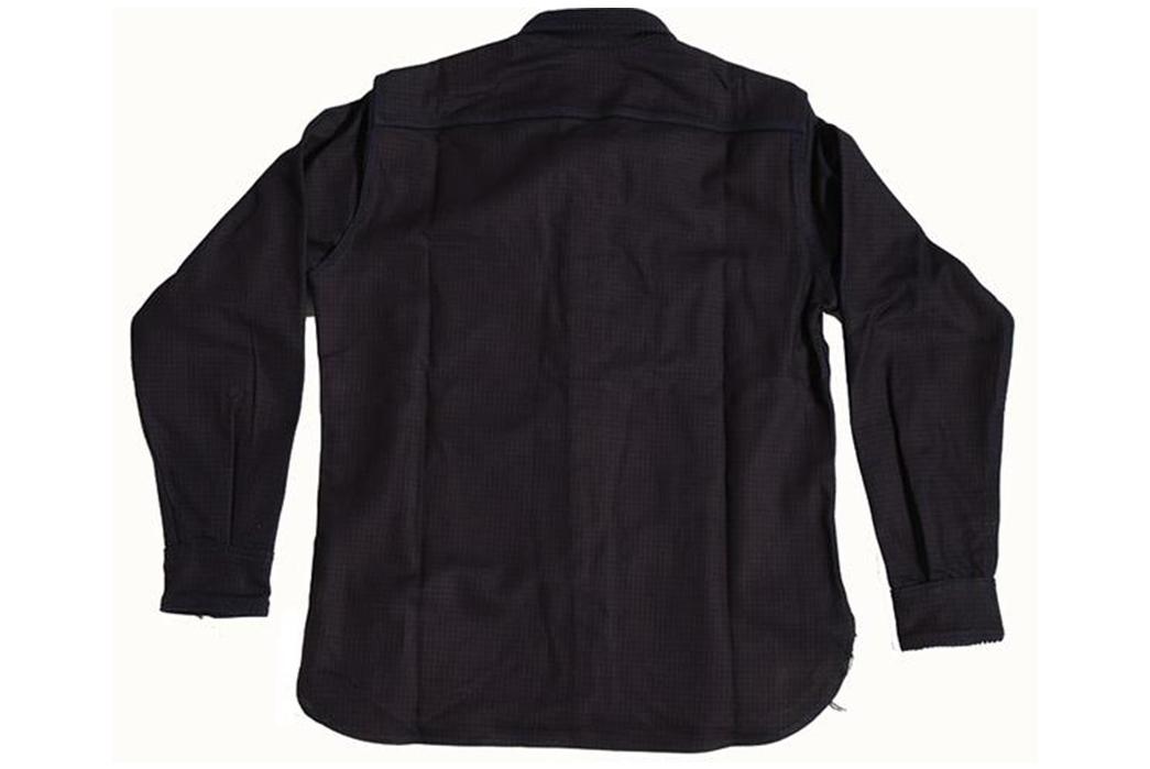 Left-Field-Collect-Mills-Indigo-Houndstooth-Dust-Bowl-Work-Shirt-back