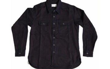 Left-Field-Collect-Mills-Indigo-Houndstooth-Dust-Bowl-Work-Shirt-front
