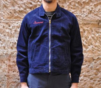 Samurai's-Indigo-Corduroy-Sport-Jacket-model-front